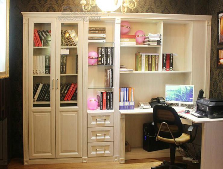 厂家直供宜家家具简易书柜浪漫书桌图片大全图片