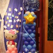 气球立柱/气球路引/气球装饰布置图片