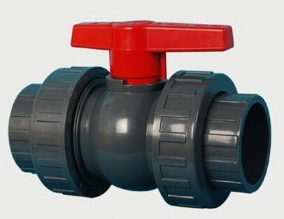 供应pvc塑料双由令活接球阀灌溉管道用图片