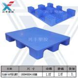 供应深圳印刷厂车间使用塑胶托盘平板九脚塑料托盘