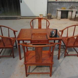 茶台5件套大果紫檀哪里的好图片