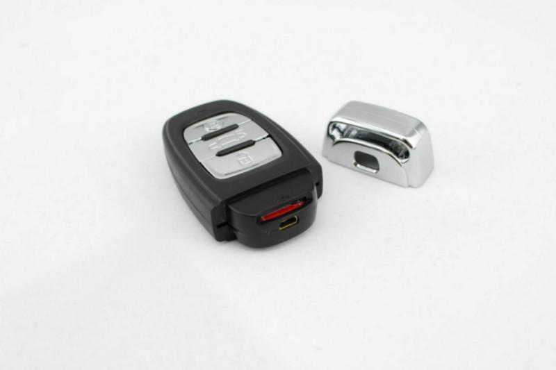 如何换奥迪车钥匙的电池 就是怎么打开它高清图片
