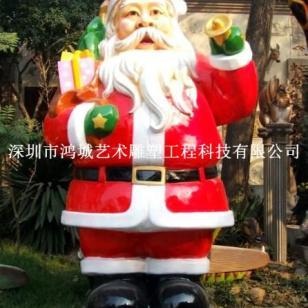 深圳玻璃钢圣诞节雕塑专业制作厂图片