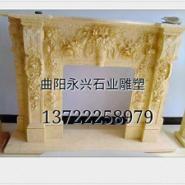 河南欧式壁炉石雕厂家图片