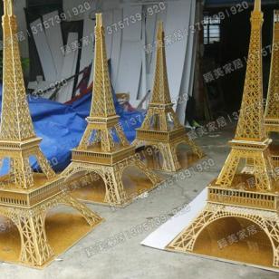 pvc婚庆橱窗立体道具埃菲尔铁塔图片