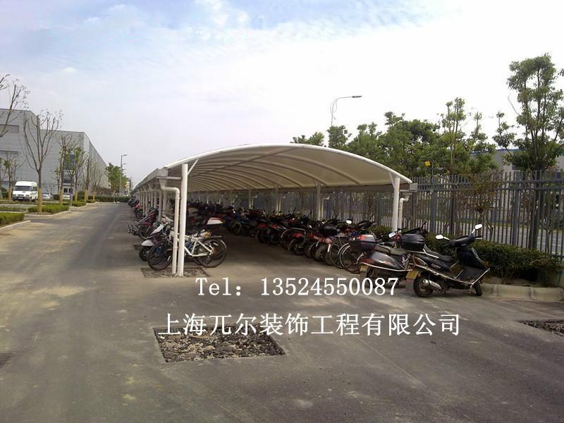 钢结构自行车棚固f�_广东钢结构自行车棚