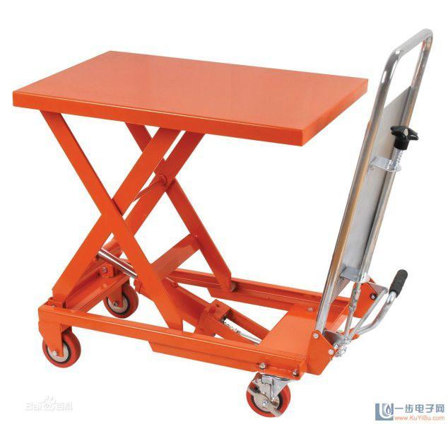 供应沅江手动式液压升降平台 堆高车 搬运车 液压升降车