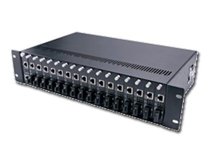 供应17槽网管型光纤收发器机架