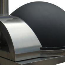 供应窑式半圆球不锈钢披萨炉黑色烤箱批发