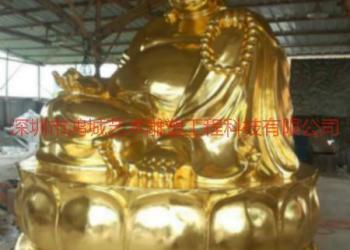 供应深圳有那家最好金箔玻璃钢佛像厂家,专业玻璃钢佛像雕塑加工厂