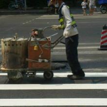 供应重庆路景建筑装修公司,花园小区划线施工电话
