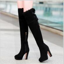 供应【艾瑞雅】秋冬靴子女真皮高跟靴粗跟防水台女靴长筒靴过膝长靴批发