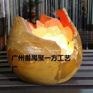 不规则陶瓷盐灯自然海盐制养生图片