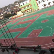 广州蓝球场环保油漆图片