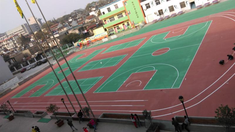 供应东莞操场地坪刷漆、户外篮球场地面用什么材料的好?