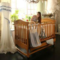 贝乐堡莫奈的花园实木摇篮婴儿床