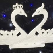 橱窗婚庆摆件PVC雕刻小天鹅摆件图片