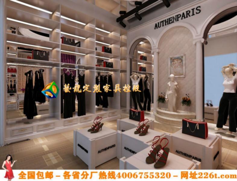时尚服装店装修货架风格高档服装店装修效果图大全1209高清图片