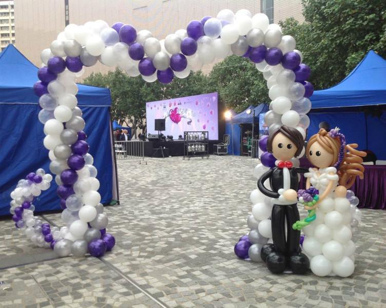 供应情人节气球装饰