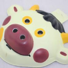 供应卡通动物奶牛面具舞会演出面具批发