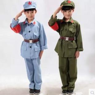 男女童红卫兵演出服饰小雷锋八路图片