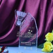 女子羽毛球赛水晶奖杯奖杯奖牌图图片