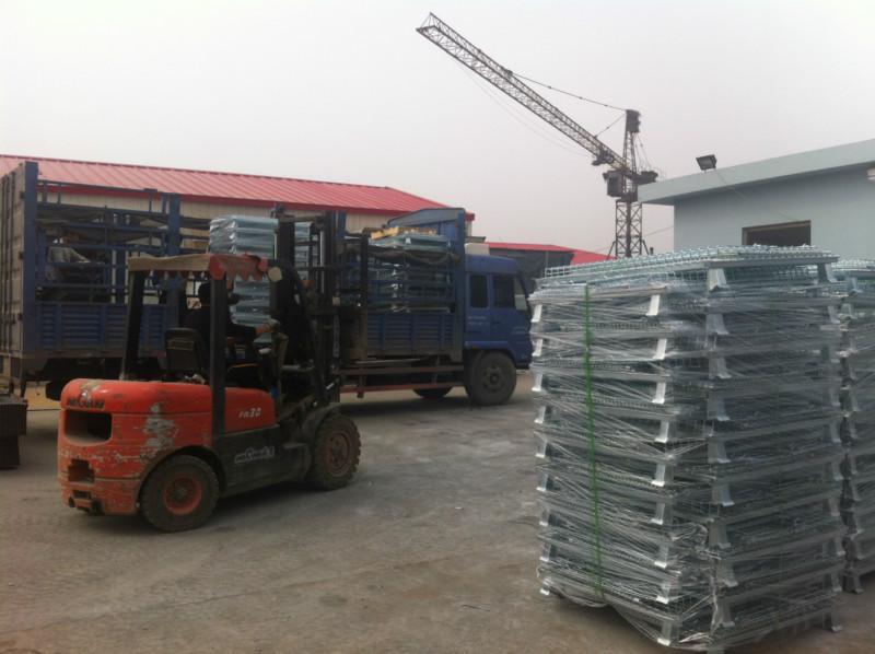 供应潍坊仓储笼生产厂家折叠式蝴蝶笼铁笼子