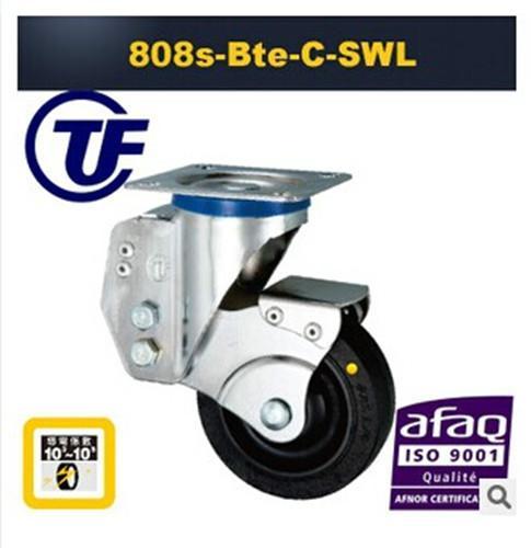 TF808款定向减振带弹簧脚轮/带弹簧TPR脚轮减振万向轮