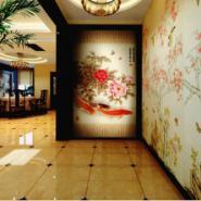 瓷砖背景墙精雕彩绘uv平板打印机图片