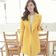 韩版羊绒呢子大衣厂家直销图片