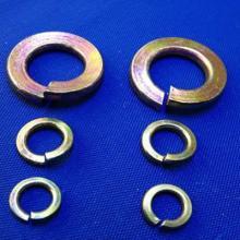 供应彩锌弹簧垫圈GB/T93碳钢彩锌
