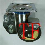 808款TPR定向万向刹车脚轮/超静音TPR带弹簧脚轮/4寸减振脚轮