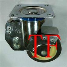 808款TPR定向万向刹车脚轮/超静音TPR带弹簧脚轮/4寸减振脚轮批发