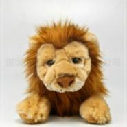 趴趴狮子公仔玩具30cm仿真狮子图片