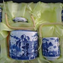 供应手工陶瓷茶具6头青花景德镇茶具图片