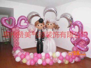 供应河源婚礼气球装饰,生日气球装饰,氦气批发,宝宝百日宴场地布置。