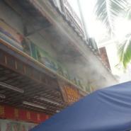 室外新型空调高压喷雾降温系统图片