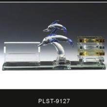 供应西安水景楼模设计定做 水晶三件套笔筒定做