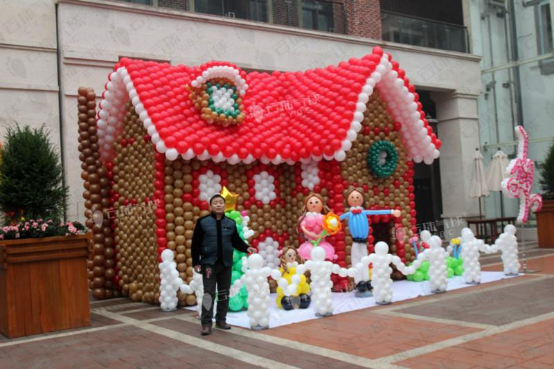 供应圣诞节气球造型装饰/商场圣诞装饰/merry Christmas/圣诞节气球装饰