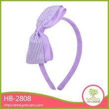 供应淡紫色大蝴蝶结发箍儿童发饰加工