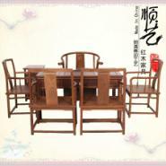榫卯仿古中式泡茶桌7件套图片