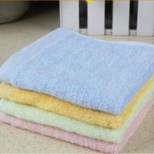 厂家批发童巾竹纤维小方巾素色多款儿童手帕批发