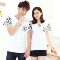 韩版运动休闲短袖t恤衫V领纯棉