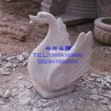 供应石雕天鹅|黄锈石天鹅|别墅景观吐水天鹅