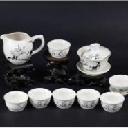 10头亚光茶具水墨梅花图片