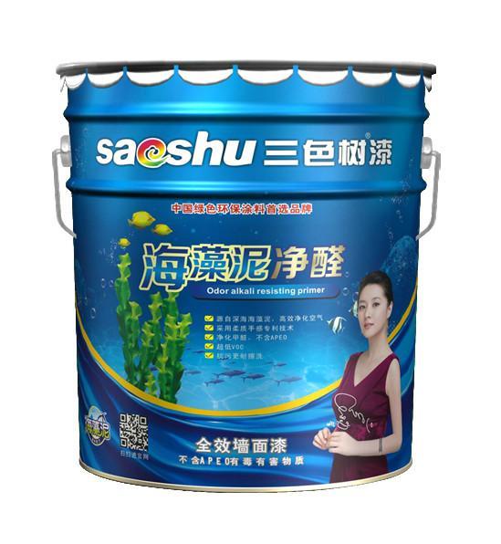 中国十大涂料品牌三色树漆海藻泥净醛全效墙面漆