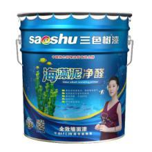 中国十大涂料品牌三色树漆海藻泥净醛全效墙面漆批发
