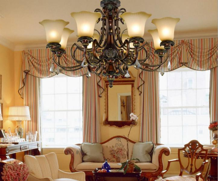 欧式艺术树脂吊灯意大利复古客厅灯图片大全图片