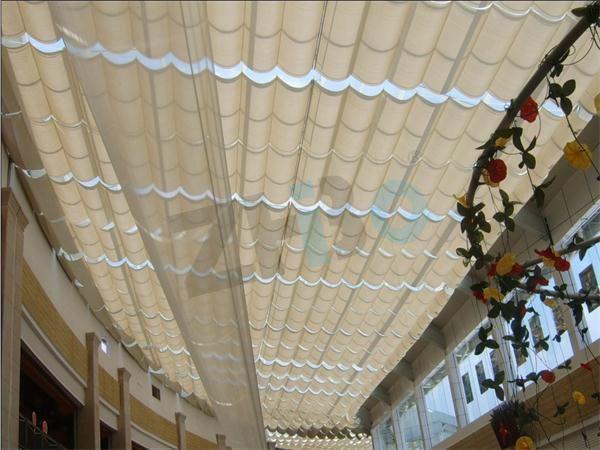 天棚帘FCS  电动折叠式天棚帘销售