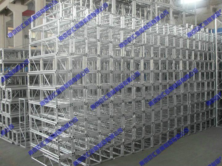 供应小型铝合金喷绘架/铝合金背景架/truss桁架/背景桁架/山东烟台小铝架/山东烟台200铝架/展示桁架